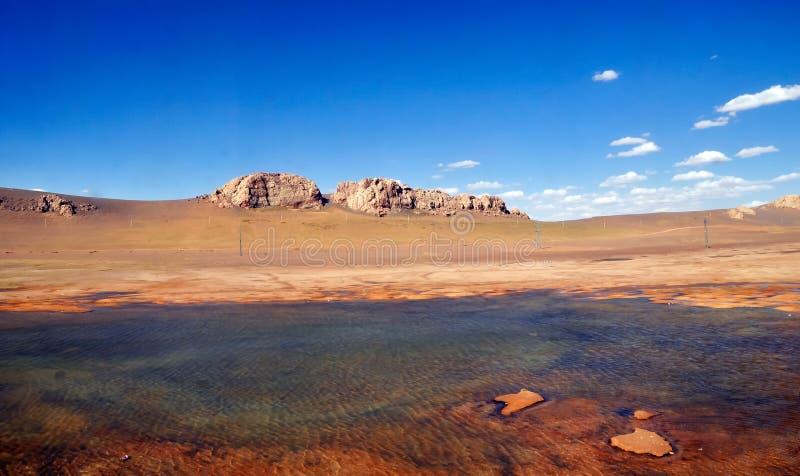 Озера плато стоковое изображение rf