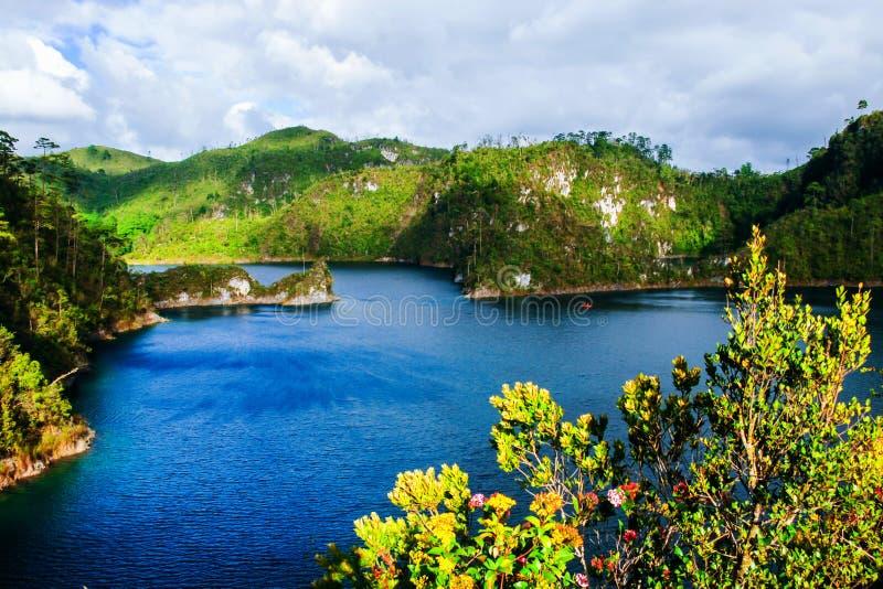 Озера Montebello национального парка в Чьяпасе, Мексике стоковая фотография