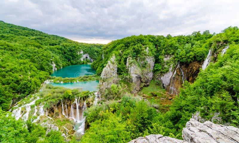 Озера Plitvice водопадов стоковая фотография rf