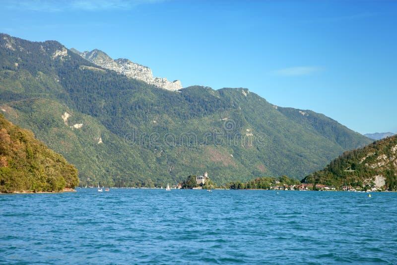Озеро Анси, француз Альпы стоковые фото