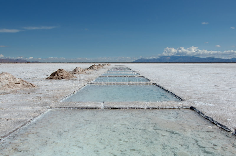 озеро Аргентины около salta соли стоковые фото