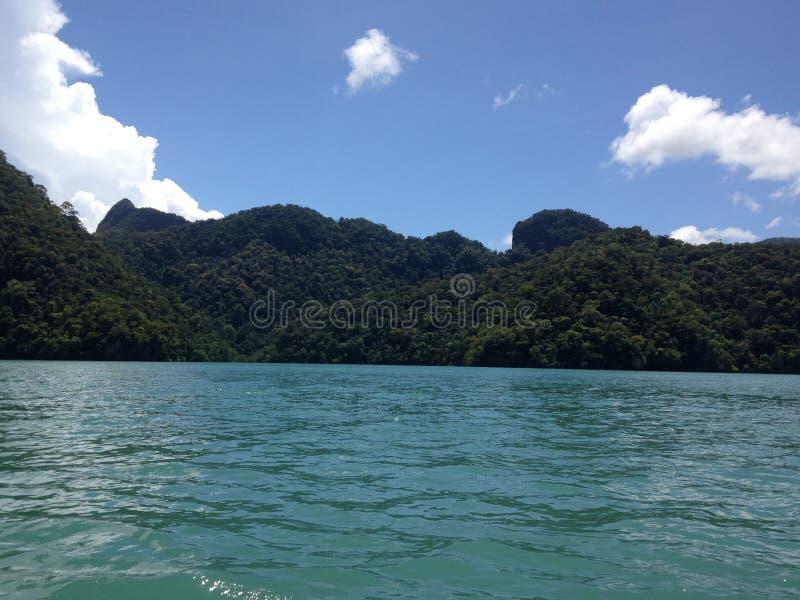 Озеро беременной овсянки Tasik Dayang девушки, Малайзии стоковое изображение