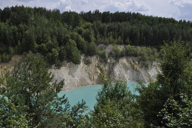 Озеро бирюз стоковые изображения rf