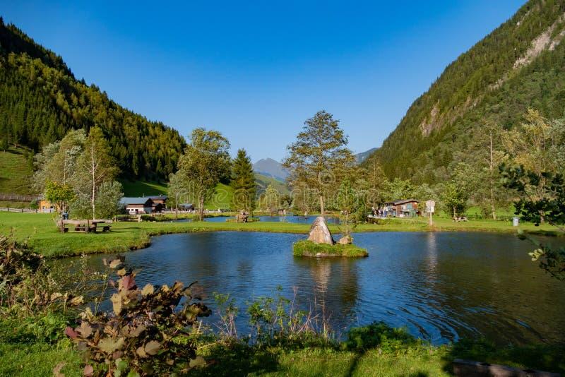 Озеро в Австрии стоковое изображение rf