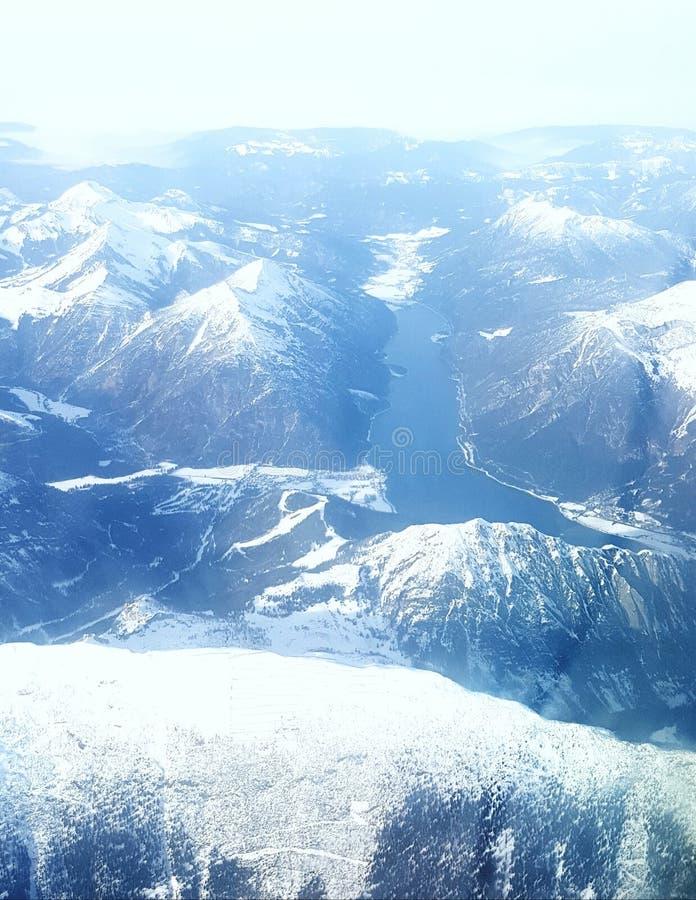 Озеро в горах, Австрия стоковое изображение rf