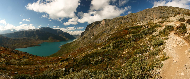 Озеро в горах стоковая фотография rf