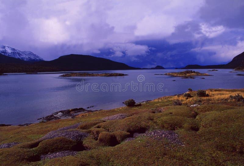 Озеро в национальном парке Лос Glaciares около Ushuaia в Fireland стоковая фотография