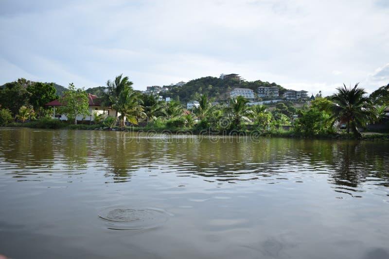 Озеро в Bophut, Koh Samui стоковые изображения