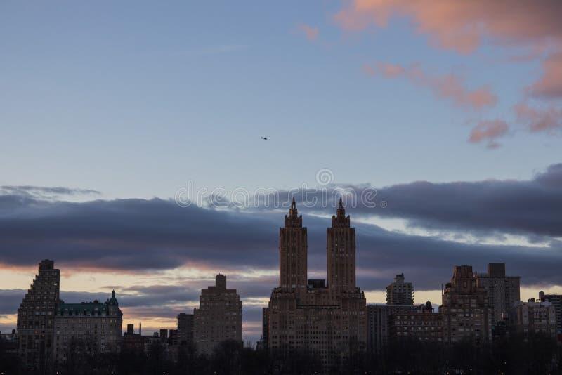Озеро в Central Park New York City запачканный стоковое фото