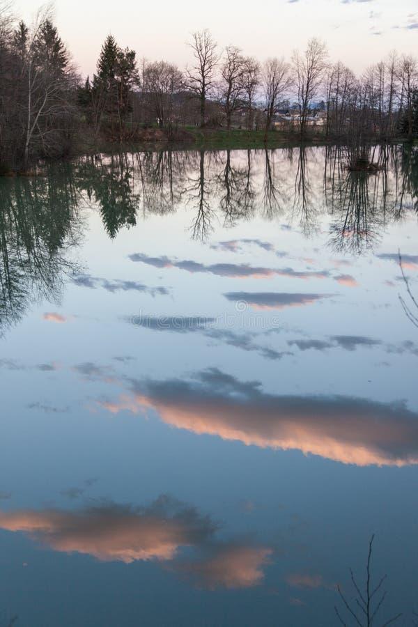 Озеро в Preddvor стоковое фото rf