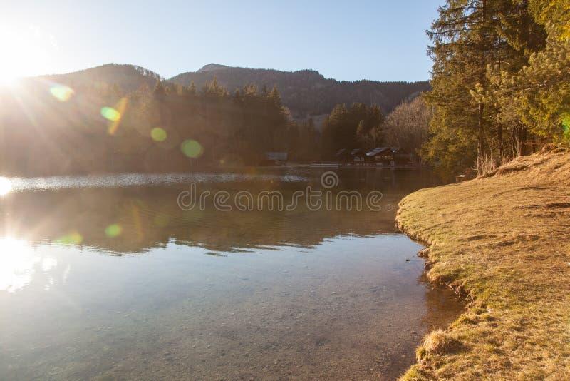 Озеро в Preddvor стоковые изображения rf