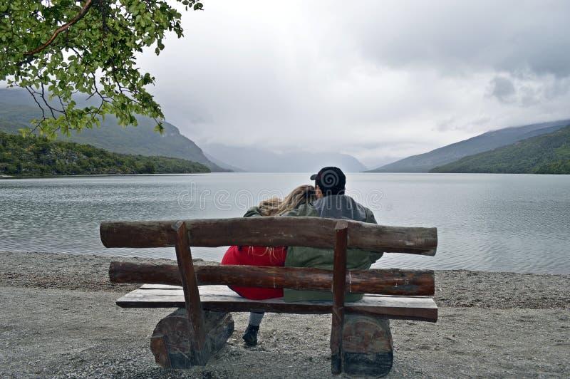 Озеро в Ushuaia стоковые изображения rf