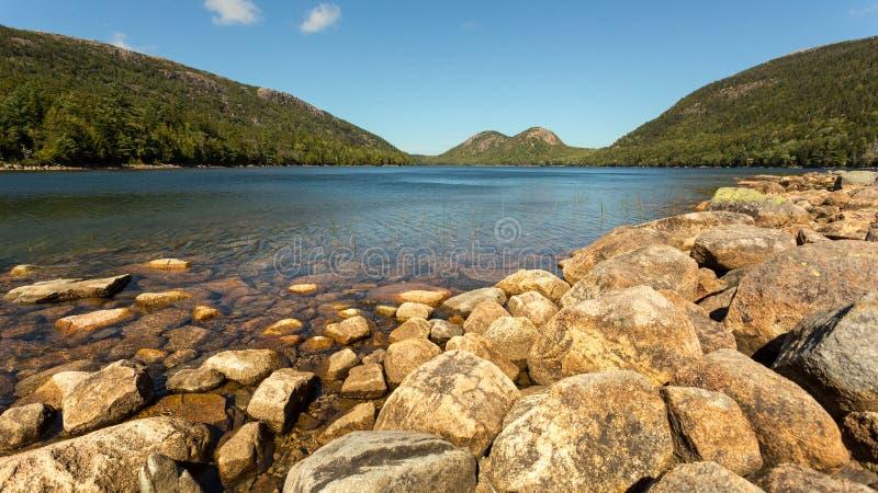 Озеро гор в Новой Англии стоковое фото