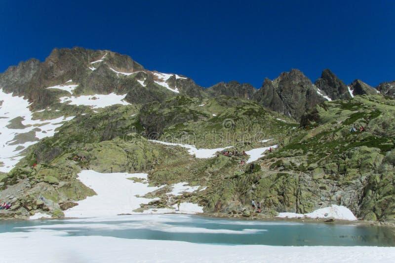Озеро гор в Шамони стоковое изображение rf