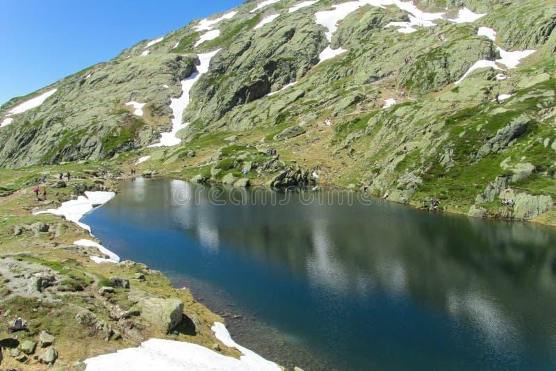 Озеро гор в Шамони стоковое фото rf