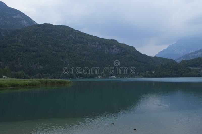 Озеро гор на предпосылке Альп стоковые фото