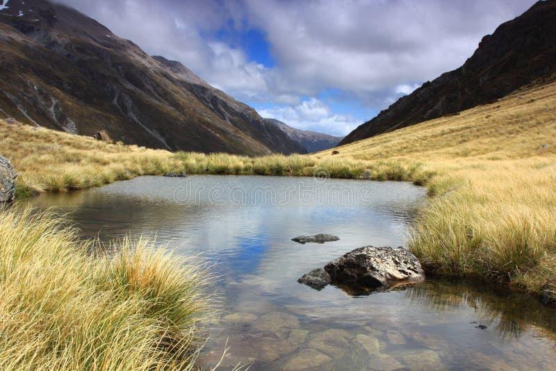 Озеро гор, Новая Зеландия стоковая фотография