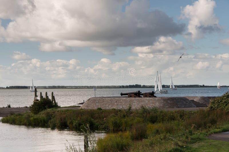 Озеро Голландия Haringvliet стоковые фото