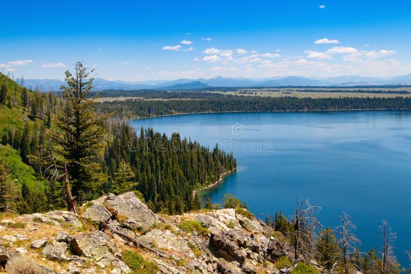 Озеро Дженни, национальный парк Teton ранда, Вайоминг, США стоковая фотография