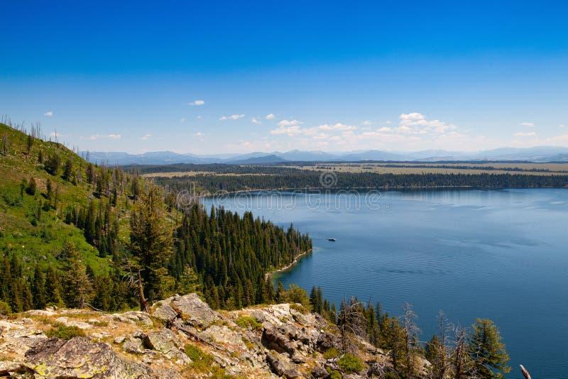 Озеро Дженни, национальный парк Teton ранда, Вайоминг, США стоковые фотографии rf