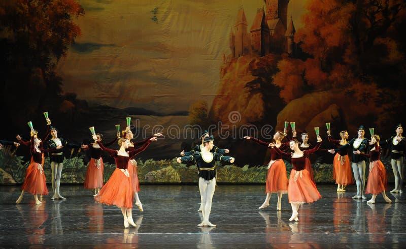Озеро лебед моряка и вина и танц-балета отверстия красоты- стоковые изображения