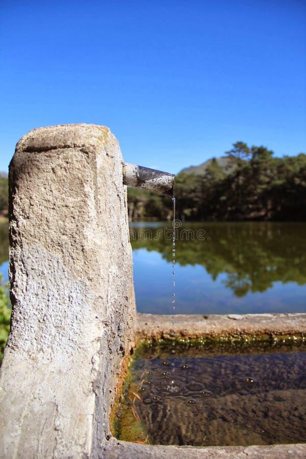 Озеро Каталония d'aran Vall шрифта стоковые изображения