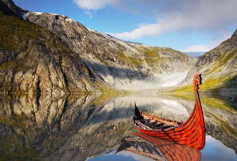 Озеро корабл Викинга, ландшафт, национальный парк стоковая фотография