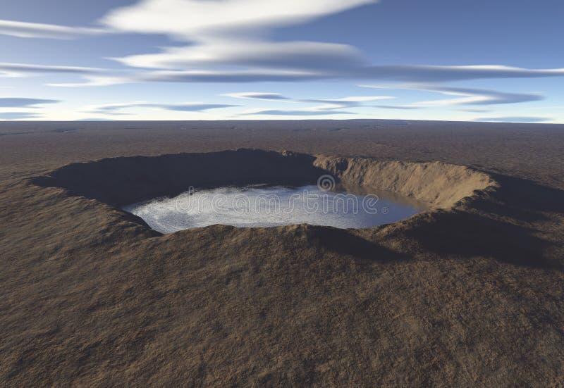 озеро кратера бесплатная иллюстрация