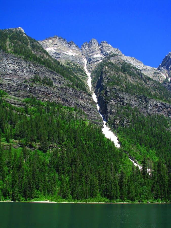 озеро лавины стоковые фото