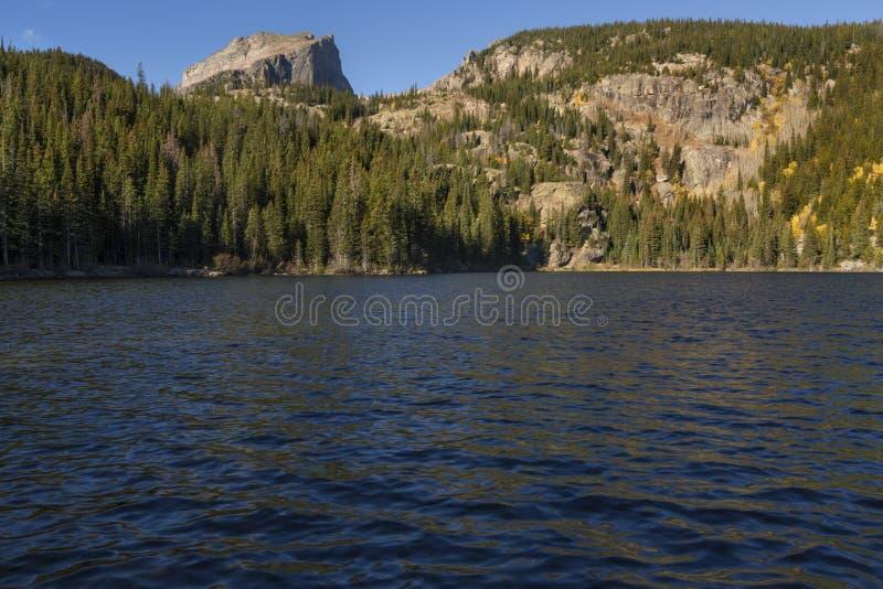 Озеро медвед, национальный парк скалистой горы стоковое фото