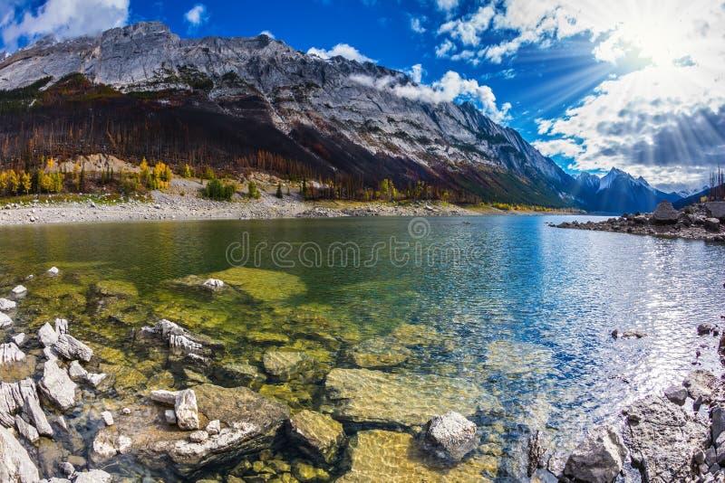 Озеро медицин сильно shoaled стоковые фотографии rf