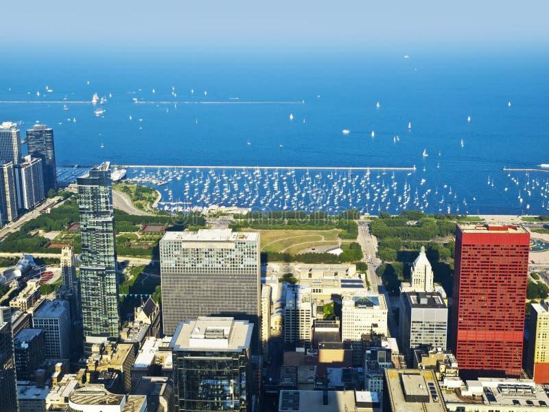 озеро Мичиган гавани chicago стоковое фото rf