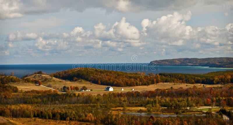 озеро Мичиган фермы стоковое фото rf