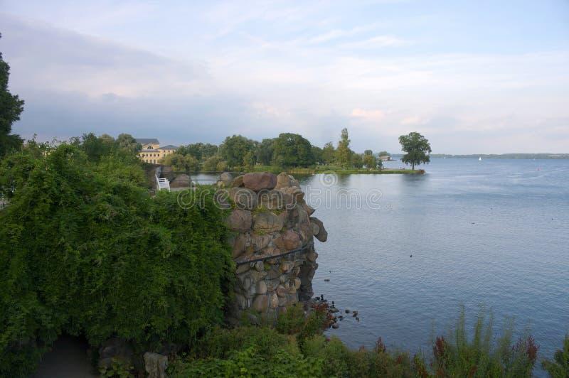 Озеро на замке Шверина - I - стоковые изображения