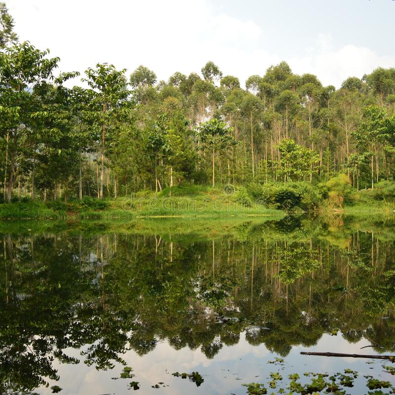 Озеро на lembang стоковое изображение