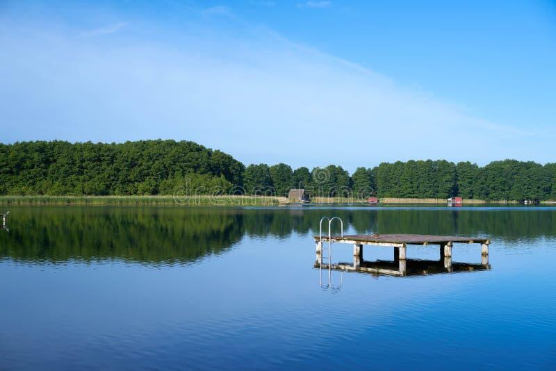 Озеро на Mirow в национальном парке Mueritz стоковая фотография rf