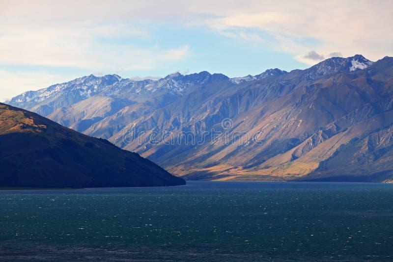 озеро Новая Зеландия hawea стоковое фото rf