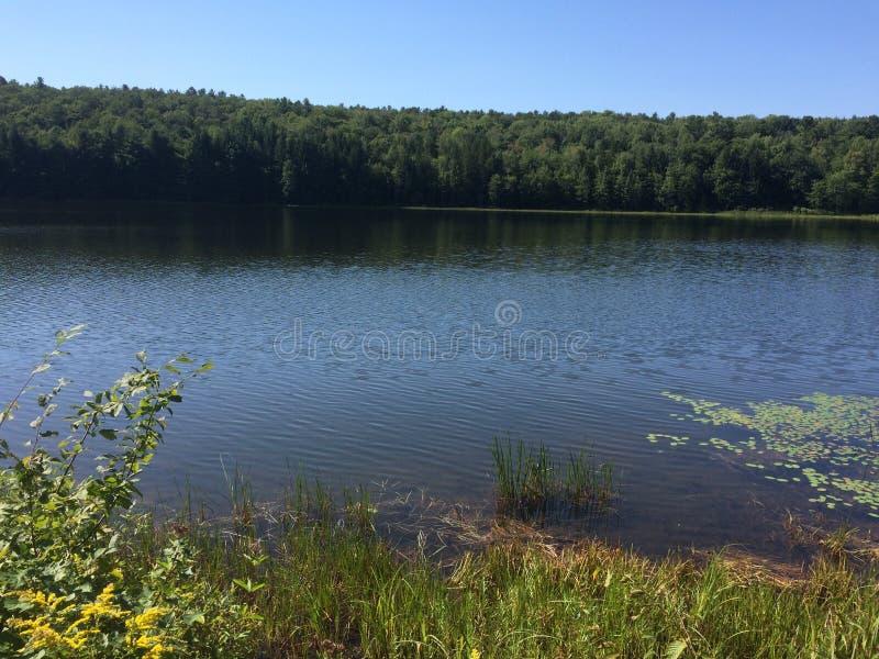 Озеро Нью-Йорк северной части штата в поздним летом стоковое изображение