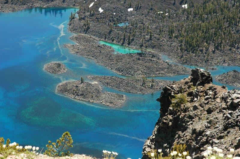 озеро Орегон кратера стоковая фотография rf