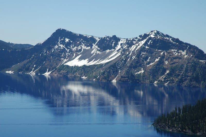 озеро Орегон кратера стоковые изображения rf