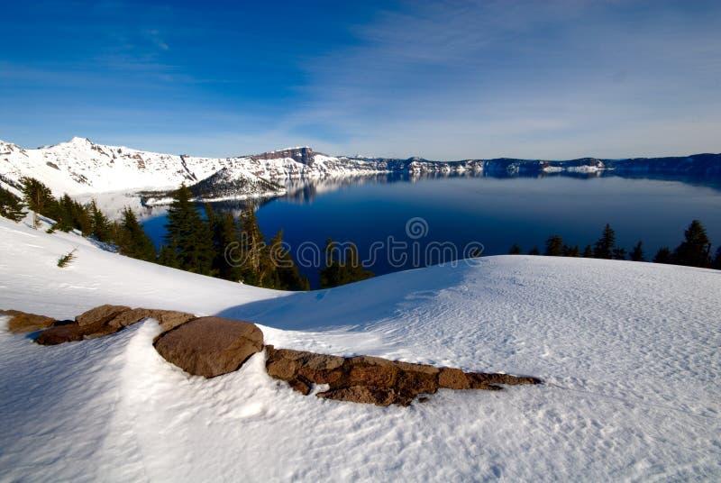 озеро Орегон кратера стоковое фото
