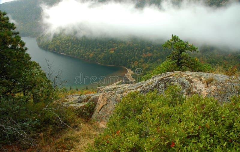 озеро орла acadia стоковые фотографии rf