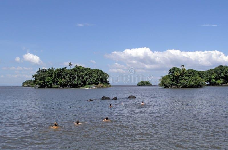 озеро островов стоковая фотография
