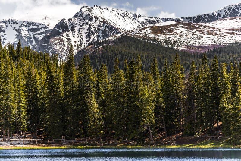 Озеро отголоска mt Эванса Колорадо ландшафта горы стоковые изображения rf