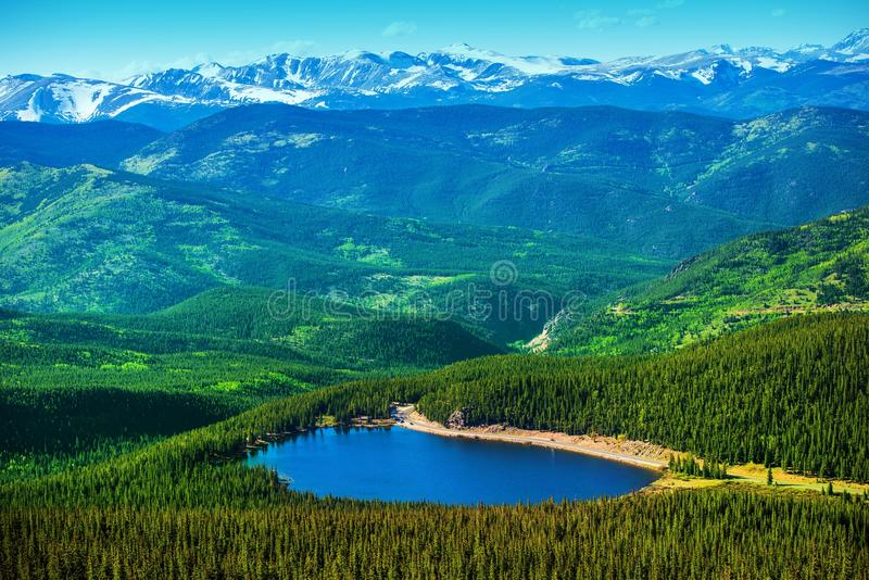 Озеро отголоск Колорадо стоковое фото rf