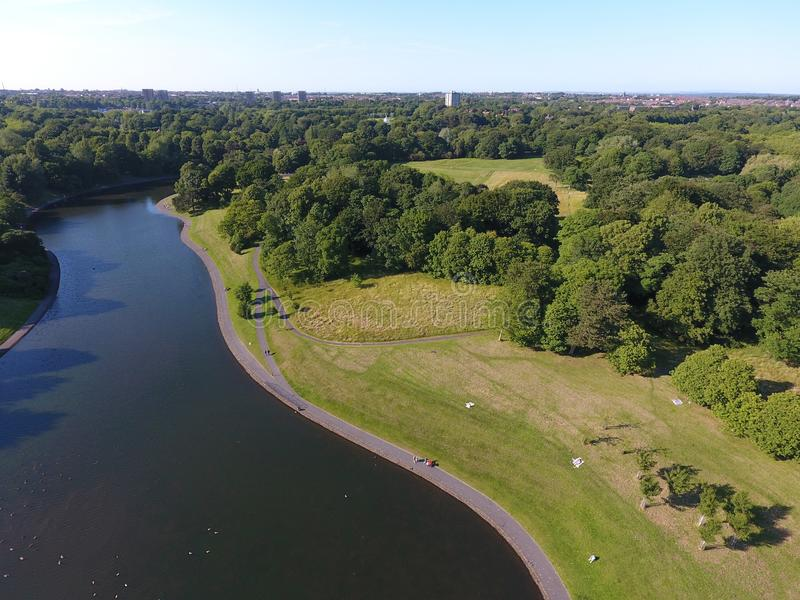 Озеро парк Ливерпуля Sefton стоковое фото