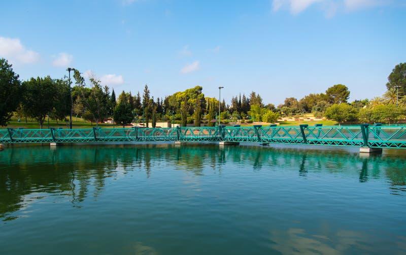 Озеро парк Raanana стоковые изображения rf