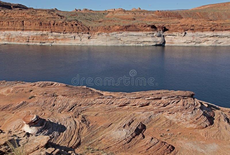 Озеро Пауэлл на странице, Аризоне стоковая фотография rf