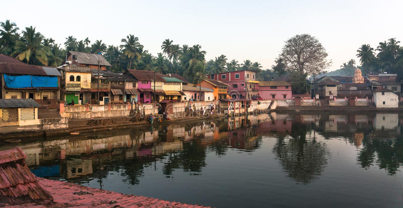 Озеро побережь священное в Gokarna Индия стоковая фотография