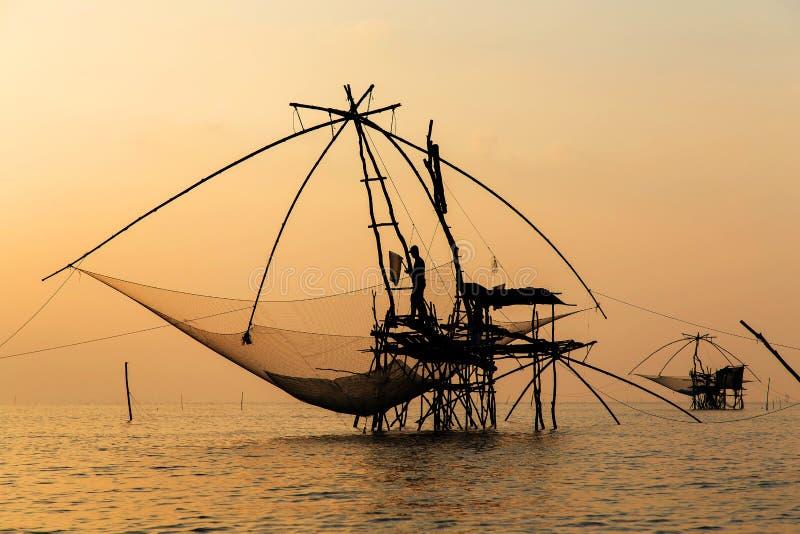 озеро рыболова вечера свободного полета стоковое изображение